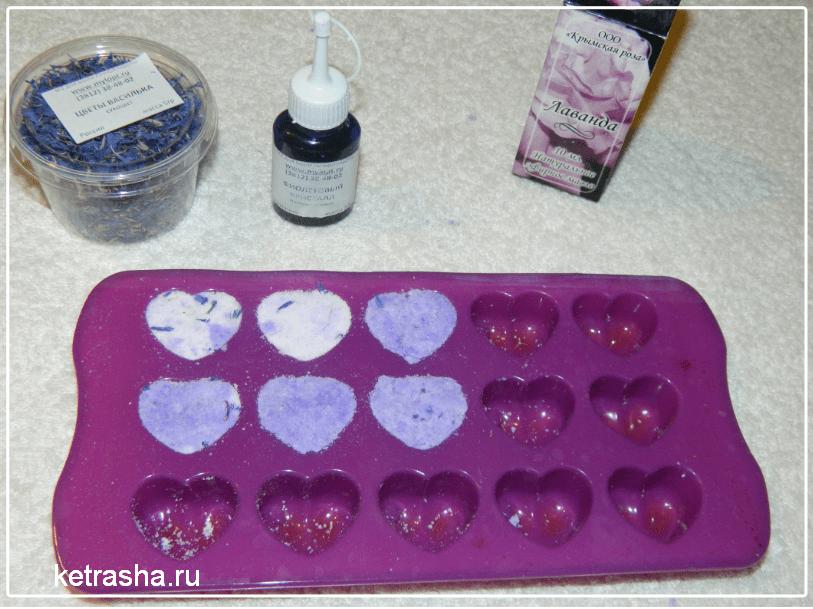 Бомбочки для ванны своими руками ингредиенты