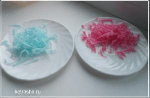 прозрачное мыло с лепестками