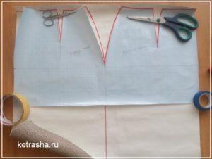 выкрвыкройка расклешенной юбки