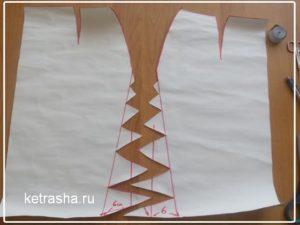 выкройка расклешенной юбки